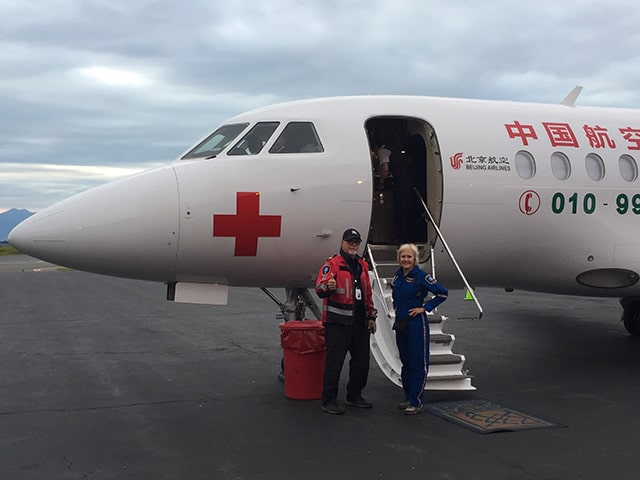 LIFESUPPORT Special Missions team members and plane in China