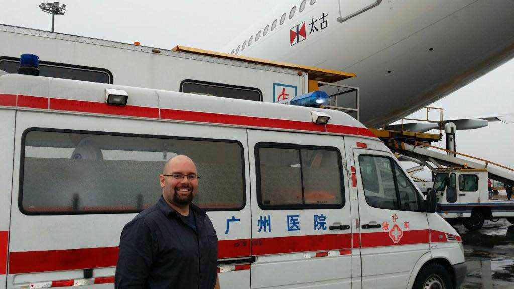 Ryan Commercial airline escorts Australia China LIFESUPPORT